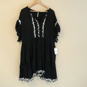 Free People NEW Boho Embroidered Dress Size L